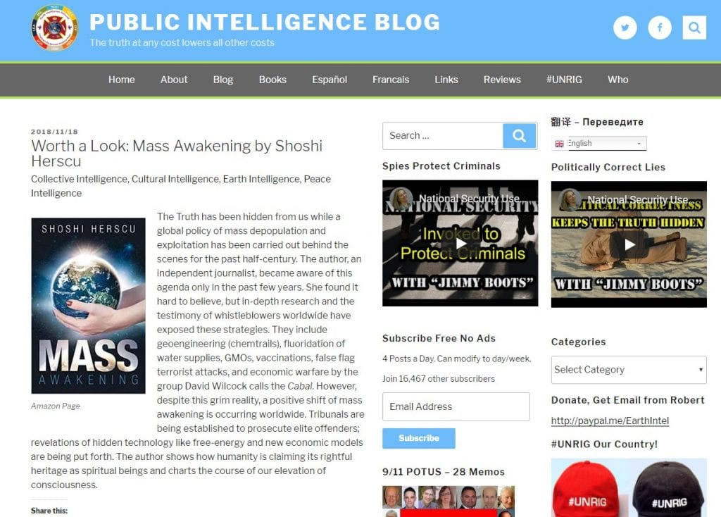 Public intelligence blog