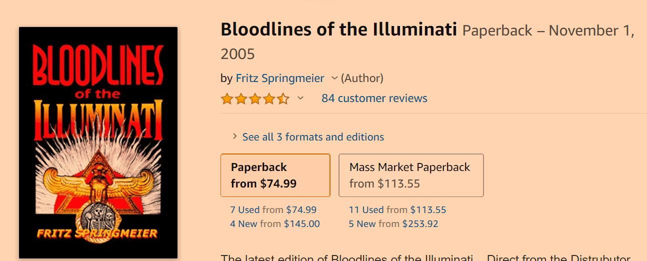Bloodlines of the Illuminati on Amazon