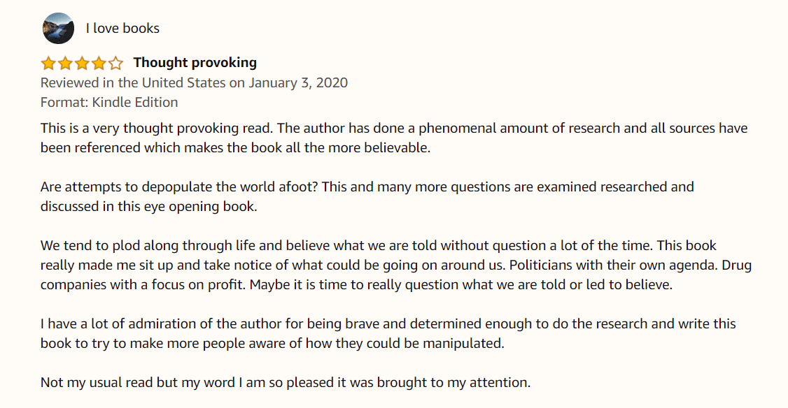 Excellent review at the beginning of 2020 on Amazon