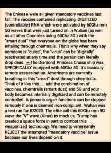 Mandatory corona virus vaccine in Wuhan