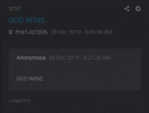God wins Q drop